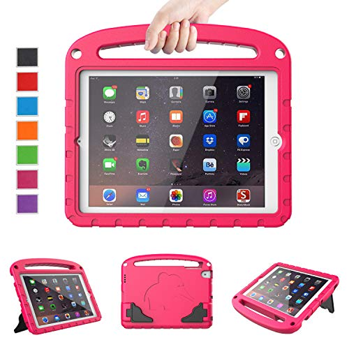 LTROP Kids Case for Apple iPad 4 3 2 - Light Weight Shock Proof Convertible Handle Stand Case for iPad 9.7' iPad 4th Generation/iPad 3rd Generaion/iPad 2 with Retina Display - Hot Pink
