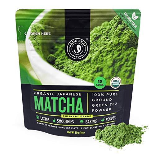 Jade Leaf Organic Matcha Green Tea Powder - Authentic Japanese Origin (30g)