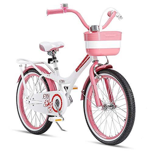 Royalbaby Girls Bike Jenny 20 Inch Girl's Bicycle With Kickstand Basket Child's Cycle Pink