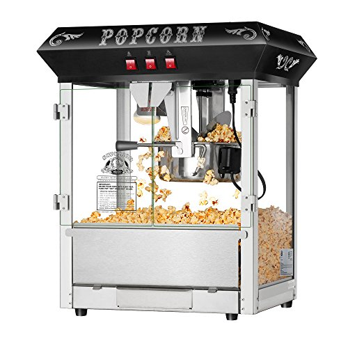 Hot and Fresh Countertop Style Popcorn Popper Machine-Makes Approx. 3 Gallons Per Batch- by Superior Popcorn Company- (8 oz., Black)