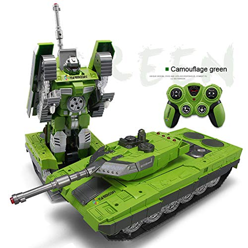 YARMOSHI Remote Control Tank Robot Toy. Launches Soft Bullets, Plays Battle Sounds and Does Battle Dance. Flashing Lights. Kids 5 - 12