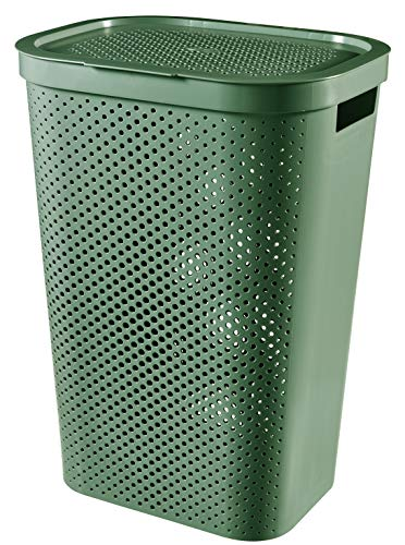 Curver Infinity Dots Recycled Laundry Bin 60 L