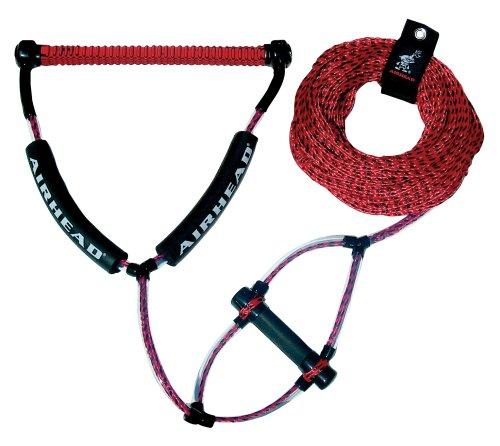 AIRHEAD Wakeboard Rope, Phat Grip, Trick Handle, Red