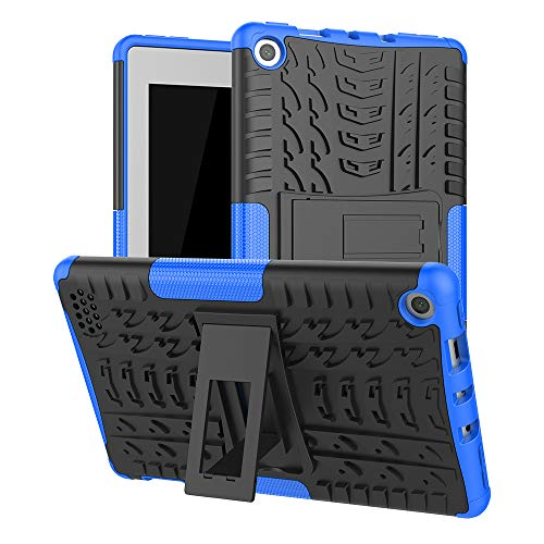 Boskin for Kindle fire 7 case 2019 2017 Release,Kickstand Heavy Duty Cover for Amazon fire 7 Tablet 9th/7th Generation (Blue)