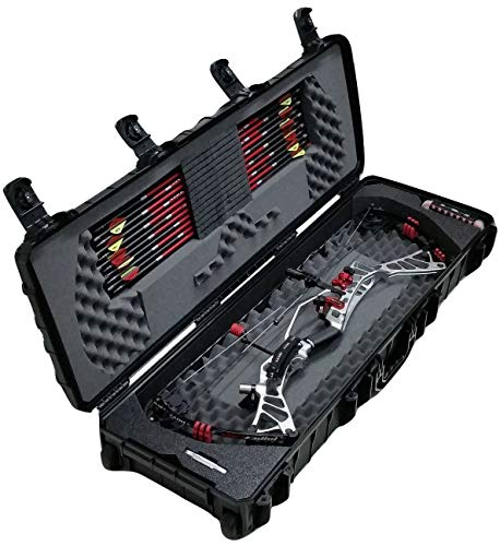 Case Club Waterproof Parallel Limb Compound Bow Case with Silica Gel to Help Prevent Rust