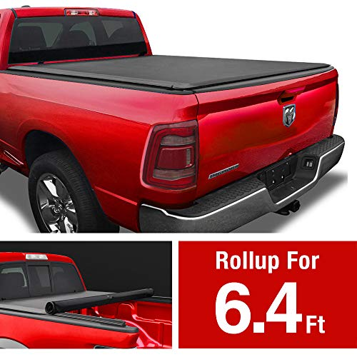 MaxMate Soft Roll Up Truck Bed Tonneau Cover for 2019-2020 Ram 1500 New Body Style | Fleetside 6.4' Bed | Without Rambox | NOT for Classic