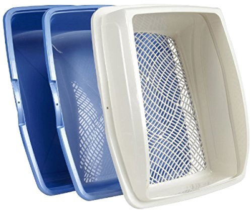 Themost Shop Sifting Cat Pan Litter Box with Frame Kitty Van Ness CP5 Easy Clean:New