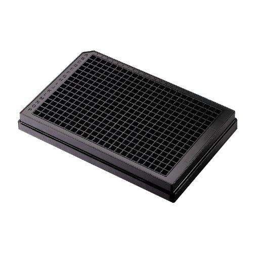 Corning 3820 Polystyrene Flat Bottom 384 Well Low Volume Solid Black Microplate, Without Lid, NBS Treated (Case of 50)