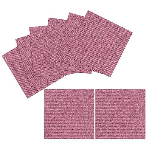 "Triluc Carpet Tiles Peel and Stick - Multi-Purpose Floor Mat for Home and Pets, Non-Slip, Vacuum Safe, Machine Washable Pet Mat, 12"" x 12"""