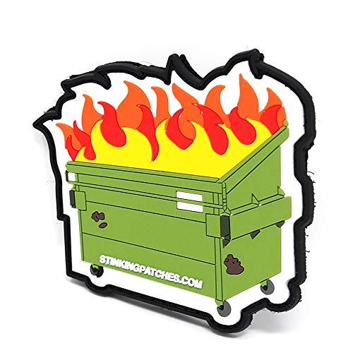 Dumpster Fire Morale Patch | PVC Rubber Tactical Patch | Funny Morale Patch