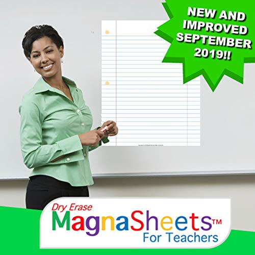 MagnaSheets (TM) for Teachers | Dry Erase Magnetic Notebook Paper for Classrooms | 28 x 22 Inches | Abaco Brands, Inc USA