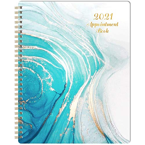 2021 Weekly Appointment Book & Planner - 2021 Daily Hourly Planner 7.8' x 9.8', Jan. 2021 - Dec. 2021, 60-Minute Interval, Flexible Soft Cover, Twin-Wire Binding, Lay - Flat