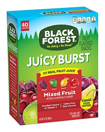 Black Forest Fruit Snacks Juicy Bursts, Mixed Fruit, 0.8 Ounce (40 Count)