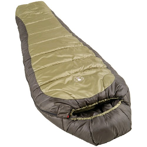 Coleman 0F Mummy Sleeping Bag for Big and Tall Adults | North Rim Cold-Weather Sleeping Bag, Olive