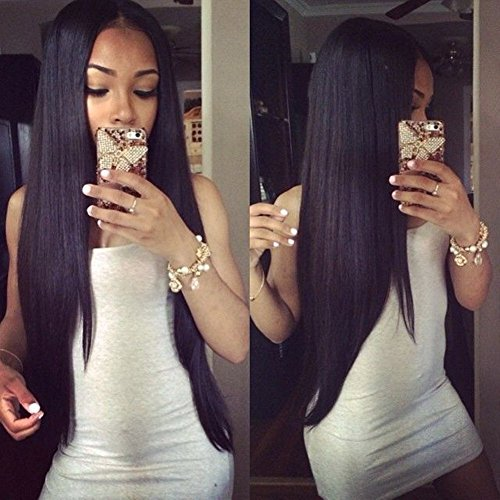 Eayon Glueless Full Lace Wig Pre Plucked with Baby Hair, 14inch Straight Human Hair Wigs Full Lace Wigs for Black Women Natural Hairline