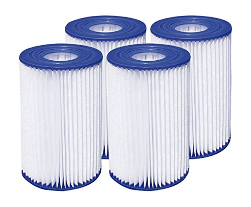 Summer Waves 4.13'x8' Type A/C Pool Filter Cartridge (4 Pack)