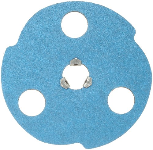 Norton BlueFire F826P AVOS Edger Speed-Lok Abrasive Disc, Fiber Backing, Zirconia Alumina, 4-1/2' Diameter, Grit 24 (Box of 25)
