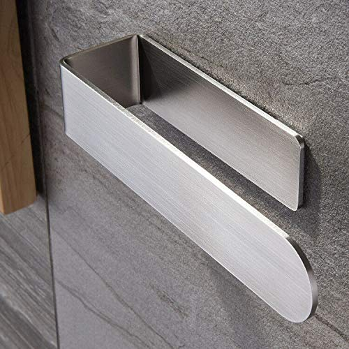 Taozun Hand Towel Holder/Hand Towel Ring - Self Adhesive Bathroom Towel Bar Stick on Wall, SUS 304 Stainless Steel Brushed
