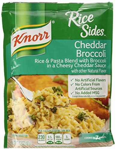 Knorr Rice Sides Dish, Cheddar Broccoli, 5.7 oz, Pack of 4
