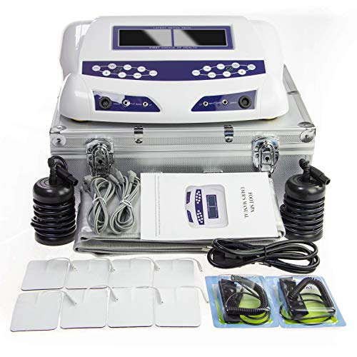 Ionic Foot Bath Detox Machine - Dual Ionic Detox Foot Spa, Chi Cleanse Cell Detoxification Machine Foot Pedicure Digital LCD Display with 2 Arrays, Waist Belts, Waist Straps, 8 Tens Pads