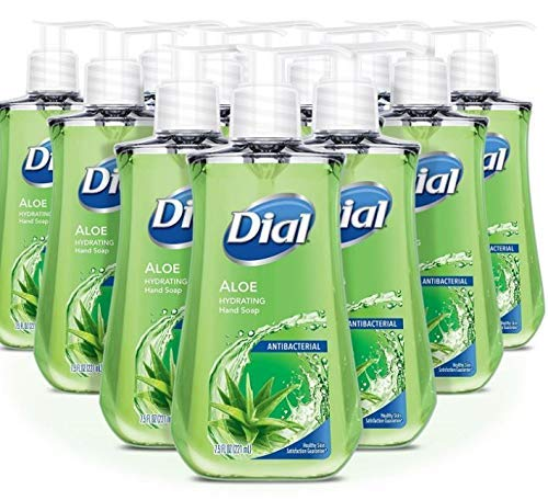 Dial Antibacterial Liquid Hand Soap, Soothing Aloe, 7.5 Ounce (Pack of 6)