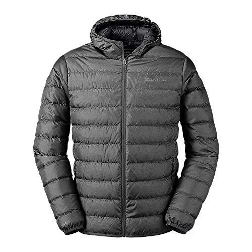 Eddie Bauer Men's CirrusLite Down Hooded Jacket, Dk Smoke Regular XXL