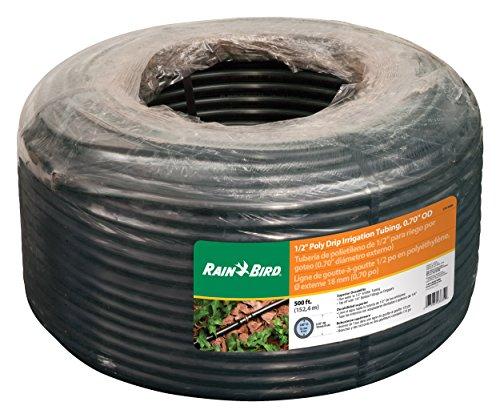 Rain Bird T70-500S Drip Irrigation 1/2' (0.700' OD) Blank Distribution Tubing, 500', Black