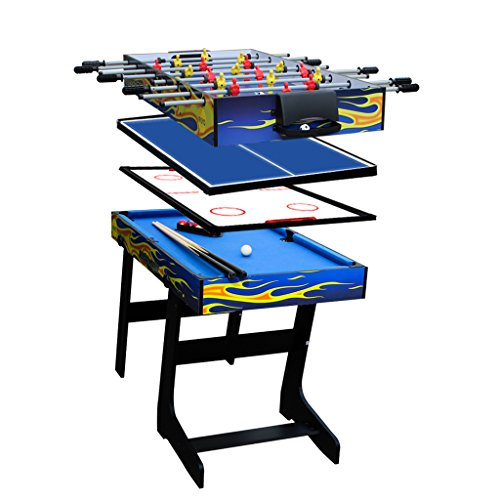 IFOYO 48 in / 4 ft Multi-Function 4 in 1 Steady Combo Game Table, Hockey Table, Soccer Foosball Table, Pool Table, Table Tennis Table