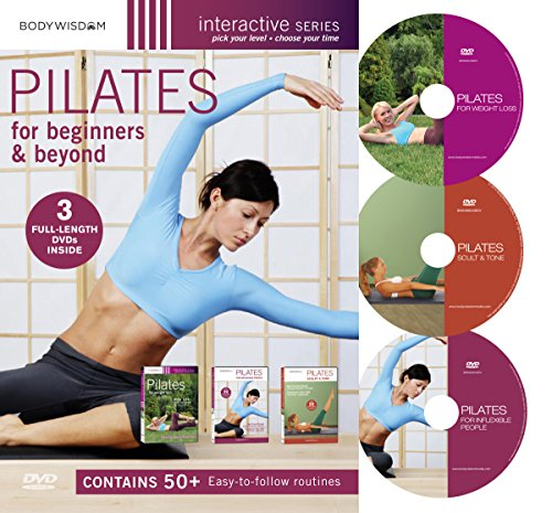 Pilates for Beginners DVD Set: includes Pilates Workouts for Weight Loss, Routines for a Strong Core and Abs.