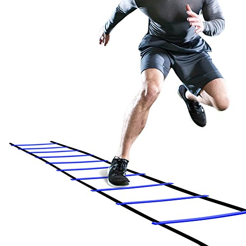 GHB Pro Agility Ladder Agility Training Ladder Speed 12 Rung 20ft with Carrying Bag