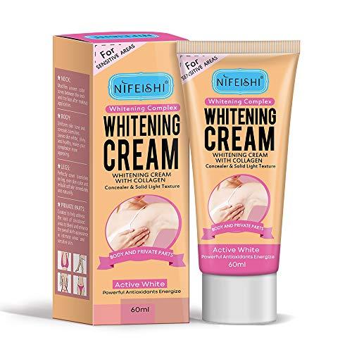 Underarm Whitening Cream, Effective Brightening Cream for Lightening & Brightening Armpit, Knees, Elbows, Sensitive & Private Areas, Whitens, Nourishes, Repairs & Restores Skin 60ml