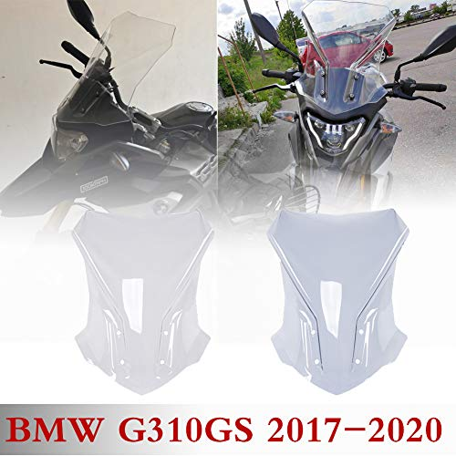 Lorababer 17 18 19 20 G 310 GS Accessories Touring Windshield Screen Deflector Windscreen Pare-brise for BMW G310GS G 310GS 2017 2018 2019 2020(Clear)