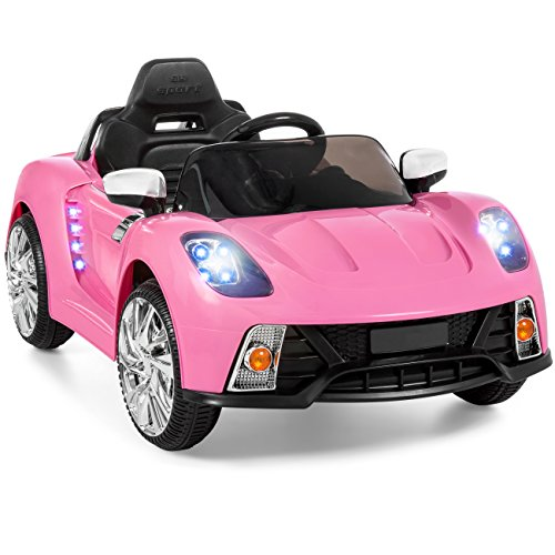 Best Choice Products 12V Kids Battery Powered Remote Control Electric RC Ride On Car w/ LED Lights, MP3, AUX - Pink
