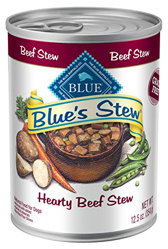 Blue Buffalo Blue's Stew Grain Free Natural Adult Wet Dog Food, Beef Stew 12.5-oz can (Pack of 12)