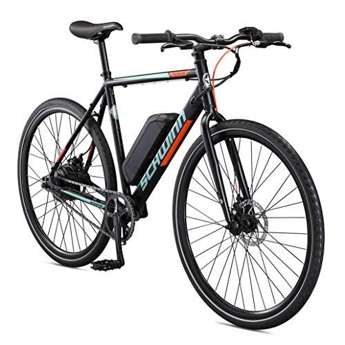 Schwinn Monroe Electric Bike, Single Speed, 27.5-Inch Wheels, 56cm/Medium Frame