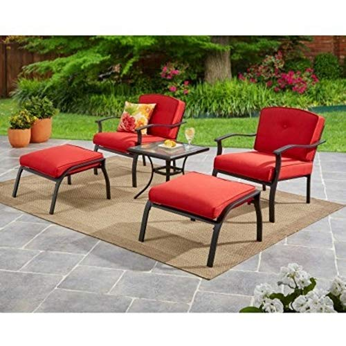 Mainstays Belden Park 5-Piece Leisure Set (Red)