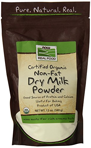 NOW Foods, Organic Non-Fat Dry Milk Powder with Protein and Calcium, Product of the USA, 12-Ounce