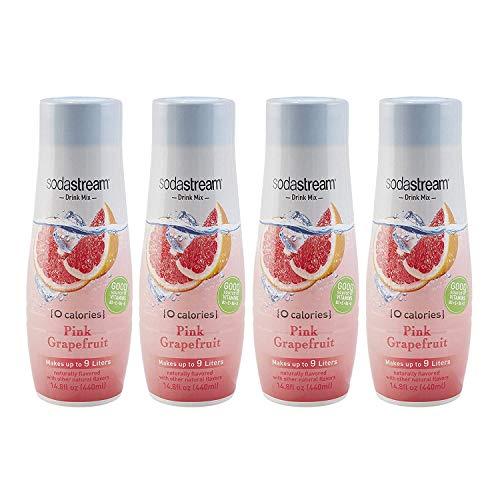 SodaStream Pink Grapefruit Zero Calorie, 14.8 Fl Oz (Pack of 4)