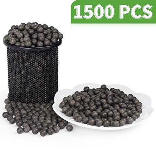 LuckIn 3/8 Inch Slingshot Ammo Balls, Biodegradable Clay Slingshot Ammo, Soil Color, 1500 Pcs