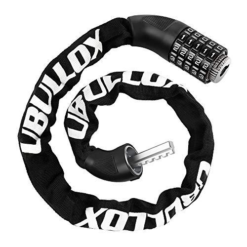 UBULLOX Bike Chain Lock 3FT Bike Lock 5-Digit Combination Bike Lock Anti-Theft Bicycle Lock Resettable Bike Lock Chain for Bicycle, Motorcycle and More
