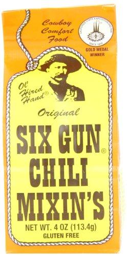 Six Gun Chili Mixin's, 4-Ounce