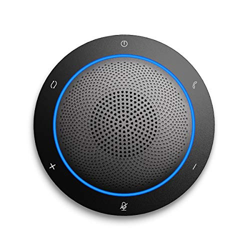 Kaysuda Bluetooth Conference Speakerphone Wireless Microphone and Speaker for Mobile Phone and Computer, USB Office Speakerphone for Skype, Zoom