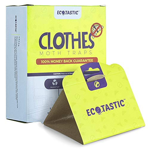 ECOTASTIC Clothing Moth Traps - 11 Count - Foldable Moth - Eco-Friendly Hassle Control - Pheromone Technology - Closet Mothballs - Wood/Carpet/Clothes
