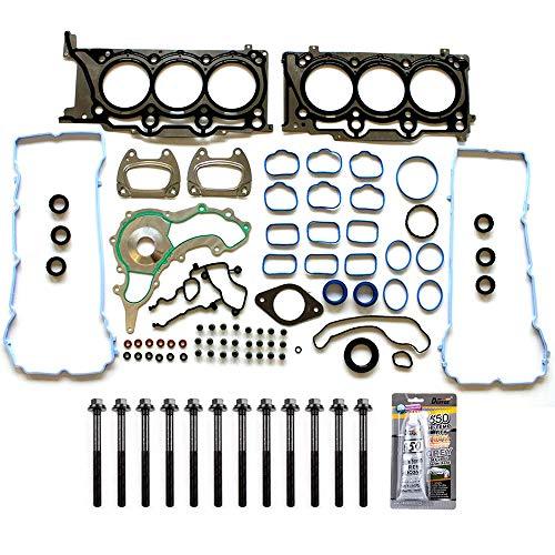 cciyu Engine Head Gasket Bolts Kit Replacement fit for 11-16 Chrysler 200 300 Dodge Avenger Challenger 3.6L (HS26541PT)