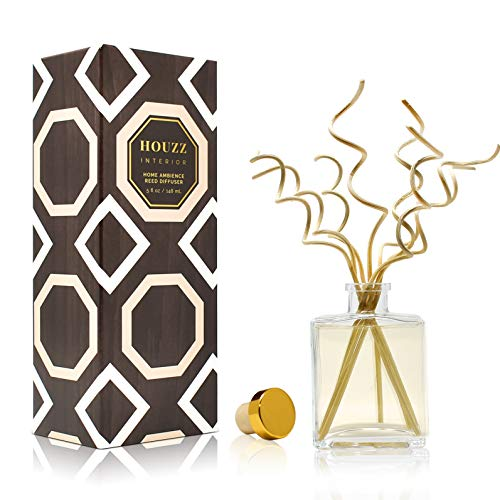 HOUZZ Interior Vanilla & Brown Sugar Reed Diffuser Sticks Set – Made with Natural Essential Oils – No Sulfates or Parabens – Home Gift Idea – Made in The USA