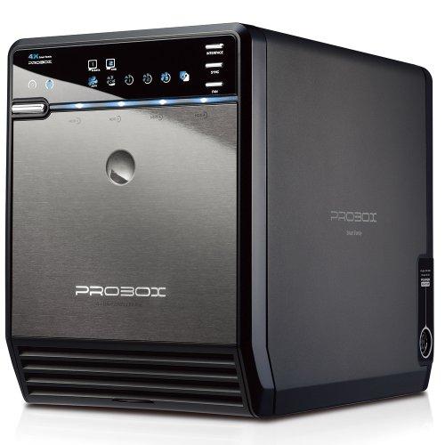 "Mediasonic ProBox HF2-SU3S2 4 Bay 3.5"" SATA HDD Enclosure – USB 3.0 & eSATA Support SATA 3 6.0Gbps HDD transfer speed"