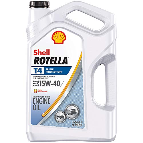 Shell Rotella T4 Triple Protection Conventional 15W-40 Diesel Engine Oil (1-Gallon, Case of 3)