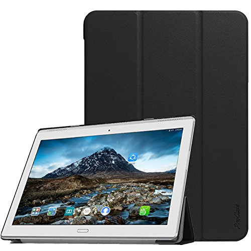 ProCase Lenovo Tab 4 10 Plus Case, Slim Stand Hard Shell Case Smart Cover for 2017 Lenovo Tab 4 10.1' Plus Android Tablet ZA2T0000US, with Auto Sleep/Wake -Black