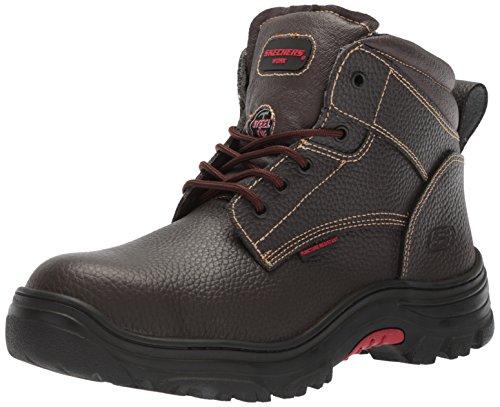 Skechers for Work Men's Burgin-Tarlac Industrial Boot,brown embossed leather,9.5 M US