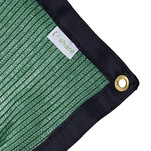 e.share 70% Green Shade Cloth Taped Edge with Grommets 12 ft X 6 ft